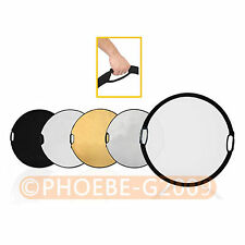"""110cm 43"""" 5-in-1 Light Mulit Collapsible disc Reflector"""