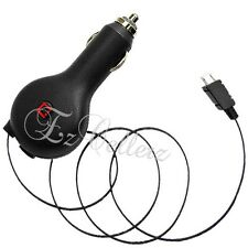 For LG PHOENIX 2 ESCAPE 3 IC CHIP POWER RETRACTABLE CORD CAR VEHICLE CHARGER NEW