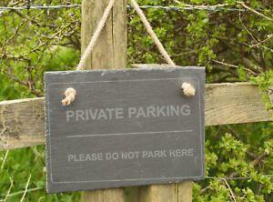 Hanging Slate Sign - Parking Spot