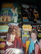 Doctor Who magazine x 4, Issues 55,101,92 and 96.