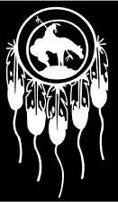 WHITE Vinyl Decal Dream Catcher Last Ride Indian horse Native American sticker