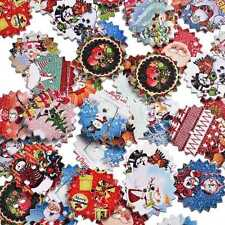 50Pcs Christmas Picture Mixed Color Wood Button 2 Holes Sewing Craft Upick DIY