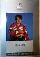 Autogrammkarte ELLEN LOHR DTM ITC MERCEDES-BENZ 190 E 2.5-16 Evolution 1990er