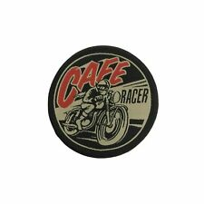 Cafe Racer Iron On Patch Rockabilly Biker Retro Gift Clothing Transfer Applique