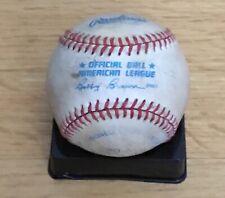 Vintage American League AL Major League MLB Official Rawlings Baseball Used