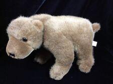 "SC Johnson Wax Brown Bear Plush Soft Toy Stuffed 12"" Animal Advertising"