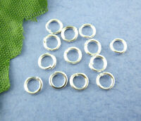 1200PCS 5mm Making Jewelry Findings Silver Plated Open Single Loops Jump Rings