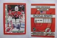 2015 SCA Chad Erickson New Jersey Devils goalie never issued produced #d/10 rare