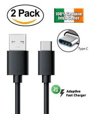 2 PACK USB Type C 3.1 Data Sync Fast Charger Cable for Samsung Galaxy S8 S9 HTC