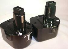 2X Battery Dewalt 397745-01 DE9074 DC9071 DE9037 DE9075 DW9072 12V 12 Volt 1.3Ah