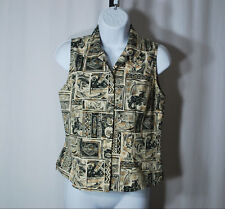 Harley-Davidson Multi-Color Sleeveless Button Front Blouse Woman's Sz S