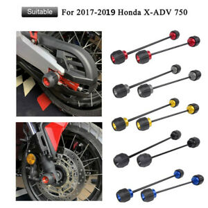 Front and rear wheel axle fork sliders protector xadv 750 17-19
