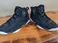Jordan True Flight Basketball Men's Size 9.5 Shoes Black/Gold 342964 026