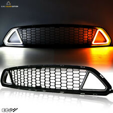 Fit for 15-17 Mustang GT/V6 Car Front Grille Grill LED Component{Dual Colour}