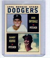 Don Drysdale & Sandy Koufax '56 Brooklyn Dodgers rookie stars Pastime series #6