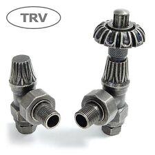 Abbey Thermostatic Radiator Valve & Lockshield - Pewter TRV