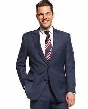 $595 Michael Kors 40R32W32L Navy Solid TwoButton Flat Front New Men's Suit SC510