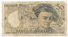 1988 French Francs Bank Note ..Banque de France ~ Maurice Quentin De La Tour