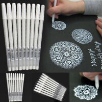 White Gel Pen Pigment Ink 0.8mm Artist Drawing Painting Sketching Tool Pens Tips