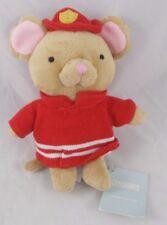 "Gymboree Mouse Fireman Rattle Plush 7"""
