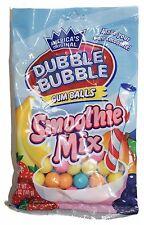 DUBBLE BUBBLE 5oz Bag GUM BALLS Bubble/Chewing Gum SMOOTHIE MIX New! Exp. 3/19+