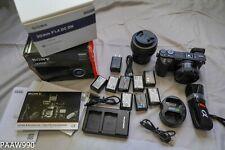Sony a6500 24.2MP Mirrorless Digital Camera 2 lens Sigma batteries 4K video IBIS