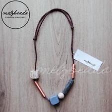 Wooden Bead Necklace Women Statement Necklace Eclectic Ladies Retro Zoda Copper