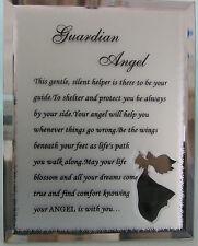 Placa de cristal sentimiento-Plata Ángel Guardián imagen