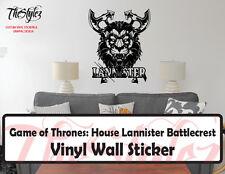 Game of Thrones House Lannister Battlecrest Vinyl Wall Sticker