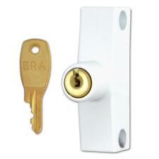 ERA 802-12 Automatic Window Snap Lock - White With Cut Key Wooden Windows