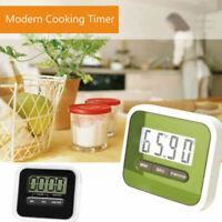 Timer Digitale da Cucina Magnetico con Display LCD Nero e Bianco multifunzione