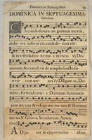 MUSIK Noten NEUMEN RIESEN Notenblatt um 1690 Mittelalter Lieder singen CHORAL