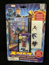 12X LOT Marvel  X-Men Mini Comic Book Grow Toy 3 Temp Tattoos Xmen