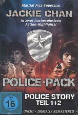 Doble-DVD nuevo/en el embalaje original-Police-Pack-Police Story 1 & 2-Jackie Chan