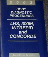 2002 DODGE 300M INTREPID CHRYSLER CONCORDE LHS BODY Diagnostic Manual OEM 2002