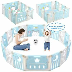 Large Foldable Baby Playpen Kids Activity Centre Safety Play Yard Indoor Outdoor