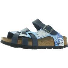 Papillio Womens Pisa Leather Birko-Flor Slides Footbed Sandals Flats BHFO 3395