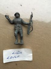 Vintage Lido WWII German Advancing 54mm Plastic Soldier