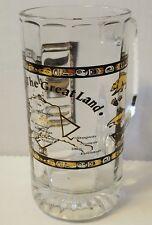 Alaska the great land clear glass mug stein map polar bear eagle totem border