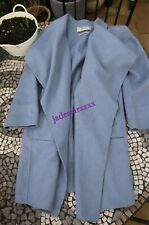 Baby Blue Zara Waterfall Coat Handmade M Medium 10 Wool Blend