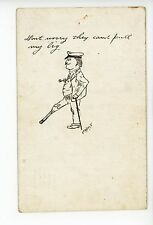 """""""Can't Pull my PEG-LEG"""" Antique Boat Captain—Artist-Signed UDB <1908"""