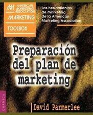 USED (GD) Preparacion del Plan de Marketing (AMA Marketing Toolbox) (Spanish Edi