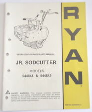 Operator,service,parts manual for Ryan Jr Sodcutter mod.544844 p/n 521670 rev.5