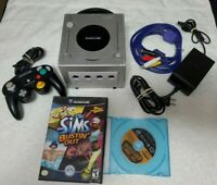 Nintendo Gamecube Platinum Silver System DOL-101 Bundle - Tested and Working