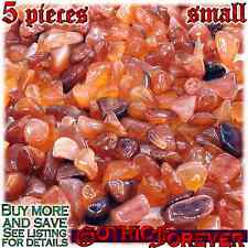5 Small 10mm Combo Ship Tumbled Gem Stone Crystal Natural - Agate Carnelian