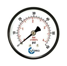 "Pool Spa Filter Water Pressure Gauge 0-60 PSI  Size 2 1/2""  Back Mount 1/4"" Inch"