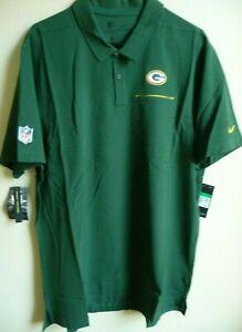 NFL Nike Green Bay Packers Football Elite Performance Polo Shirt XL NWT AO3880
