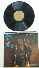 PETER, PAUL AND MARY VINYL RECORD LP 1962 Stereo Album Warner Bros.