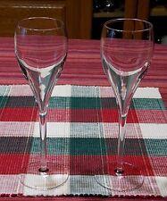 "2 Veuve Clicquot Crystal Champagne Flute 8"" Elegant Wedding Toast-MINT"