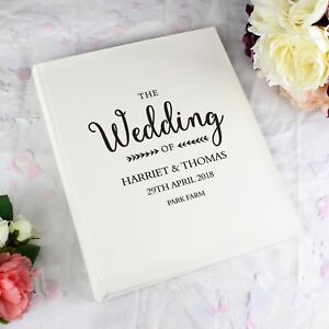 Personalised Rustic Wedding Day Photo Album Traditional Beautiful Photo Album